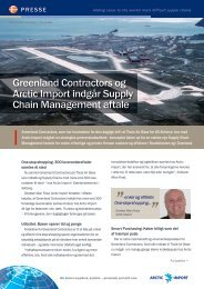 Greenland Contractors og Arctic Import indgår ... - F.wood-supply.dk