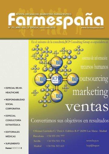 Farmaespaña Industrial Nº 70 - Mayo/Junio 2010 - Cemefar