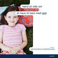 Værd at vide om at have et barn med gigt - GBF