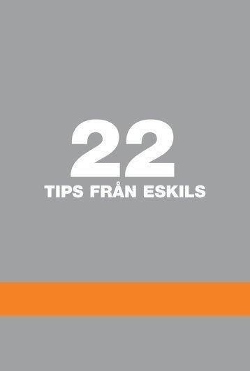 """Ladda ner vår folder """"22 tips från Eskils"""" - Eskils tryckeri AB"""