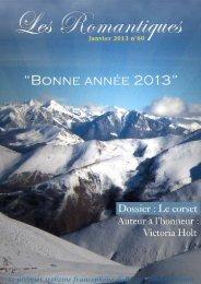 Webzine janvier 13 - Les Romantiques