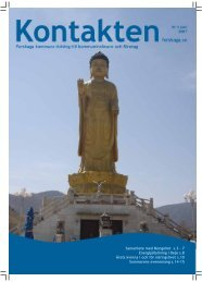 Samarbete med Mongoliet s.3 - 7 Energipåfyllning i Deje s.8 Årets ...