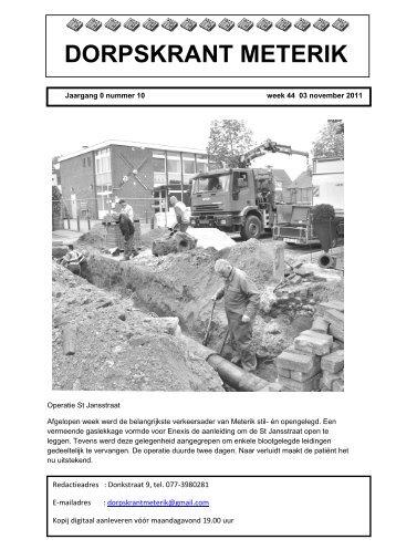 Editie 10 3 november 2011 - Dorpsraad Meterik
