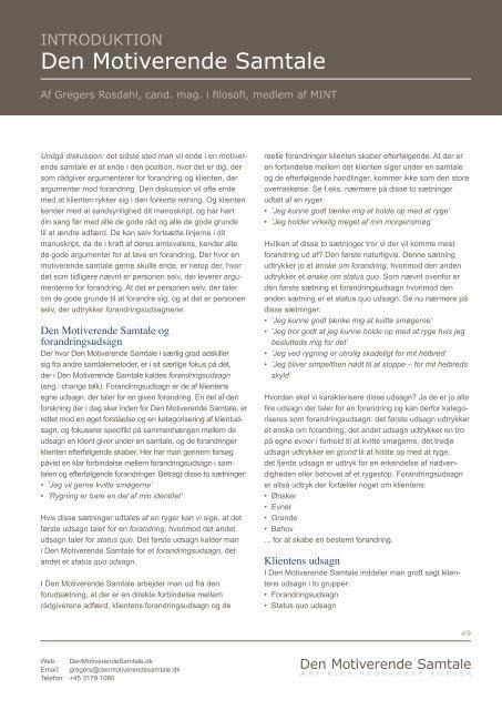 download gregers' artikel om den motiverende samtale