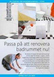 Passa på att renovera badrummet nu! - FOLAB Byggentreprenad