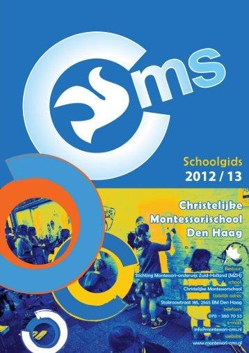 onze schoolgids - Christelijke Montessorischool Den Haag