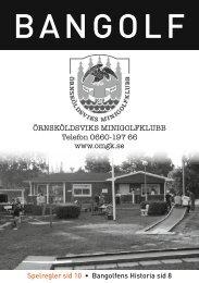 Sponsorhäfte 2012 - Örnsköldsviks Minigolfklubb