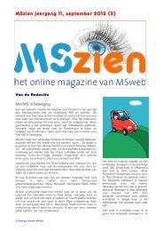 Nr.3, september 2012 met o.a. - MSweb