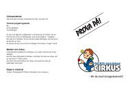 Prova på - Cirkus (pdf) - JUNIS - Grafisk profil