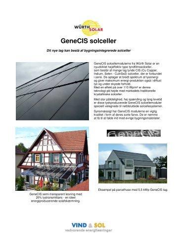 GeneCIS solceller - VIND & SOL