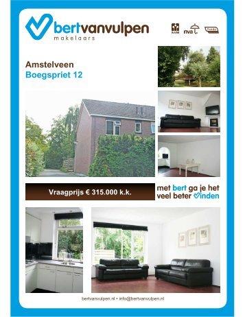 Amstelveen Boegspriet 12 Vraagprijs € 315.000 kk