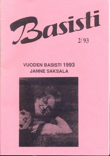 VUODEN BASISTI 1993 JANNE SAKSALA - Suomen ...