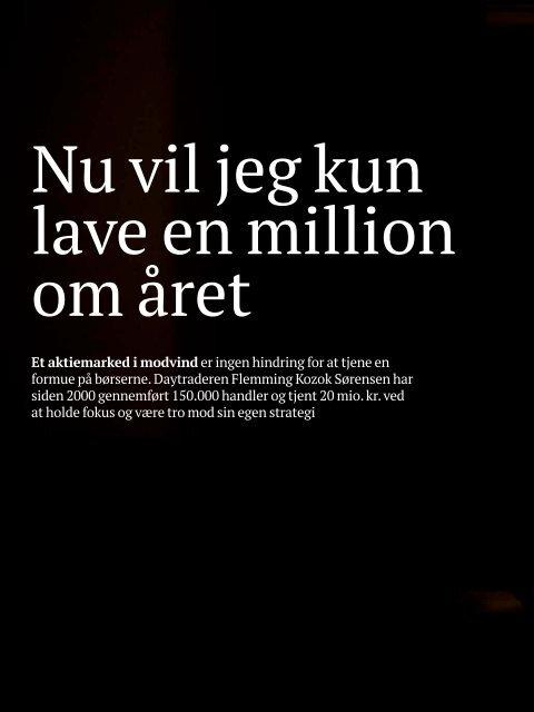 Sådan tjener daytrader en million om året - Spekulant.dk