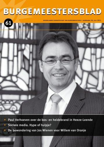 Burgemeestersblad 61 - Nederlands Genootschap van Burgemeesters