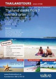 Thailand direkt från 7 svenska orter - Thailandtours