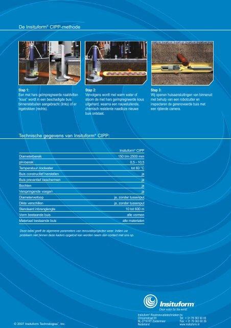 De Insituform® CIPP-methode Technische gegevens van Insituform ...