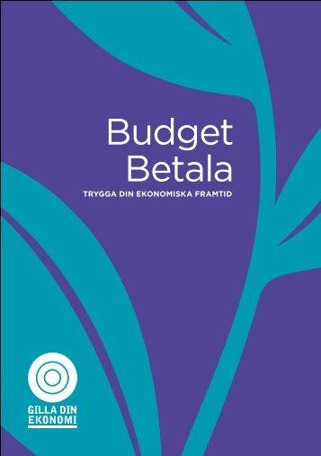 Budget Betala Trygga din ekonomiska framtid - Gilla din ekonomi