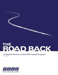 The Road Back: A Historic Review of the MTA Capital Program