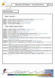Mélanges : fiches d'activités - Hypothèse