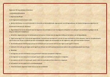 Reglement RK begraafplaats Vollenhove 1 ALGEMENE ...