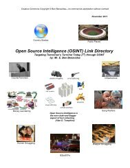 Open Source Intelligence (OSINT) 2oolKit On The Go