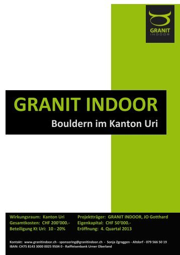 Sponsoren-Dossier - Granit Indoor