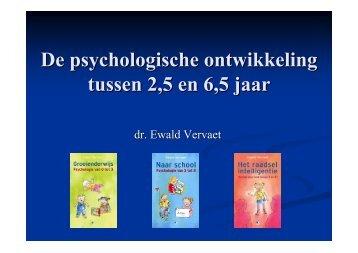 De psychologische ontwikkeling tussen 2,5 en 6,5 jaar - Startgroepen