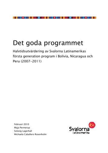 Det goda programmet SLUTVERSION 2010 - metoder.nu