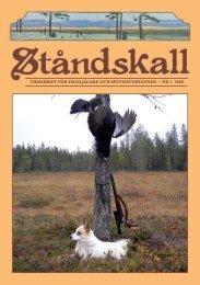 TidsskrifT för fågeljägare och speTshundvänner • nr 1 2009