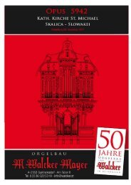 WALCKER Orgel Opus 5942 St. Michael - SK Skalica - Orgelbau ...
