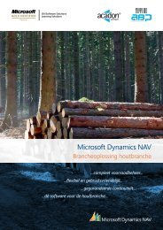 Microsoft Dynamics NAV - ABP Dynamics