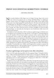 Privat och offentlig korruPtion i Sverige - SOM-institutet - Göteborgs ...