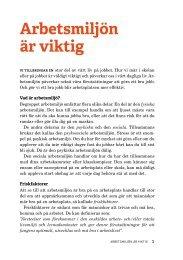 Ladda ner materialet Arbetsmiljö (pdf)