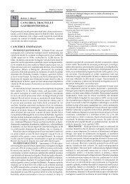CANCERUL TRACTULUI GASTROINTESTINAL ... - Cursuri Medicina