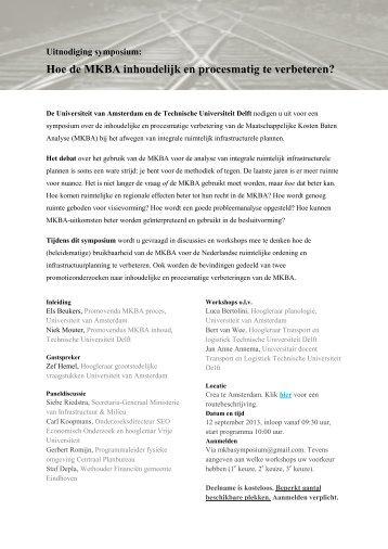 Uitnodiging MKBA Symposium (pdf) - KKS