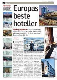 gjestene mener de er de beste hotellene i Europa - Hotel Rival