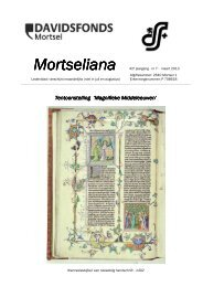 Mortseliana - Davidsfonds