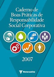 Caderno de Boas Práticas de Responsabilidade Social Corporativa