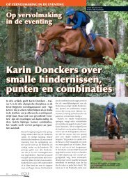 Karin Donckers over smalle hindernissen, punten en combinaties
