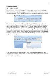 PC Tip van de Week Tip 34 : Door het Lint - Graanwijk