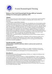 (SRF) på Nationella riktlinjer för rörelseorganens sjukdomar 2010