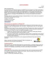 SOOP NIEUWSBRIEF nr. 83 26 april 2013 Beste belangstellenden ...