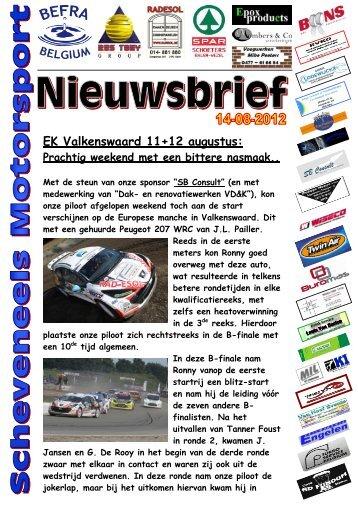 Nieuwsbrief 2012-08-14 - Ronny Scheveneels