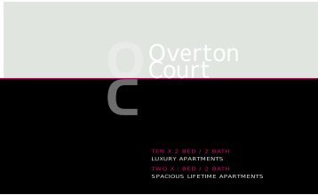 Overton Court, Brochure - Evolve Estates