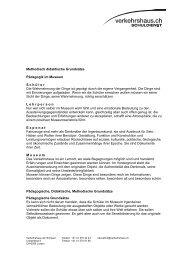 Methodisch didakt… - Verkehrshaus der Schweiz