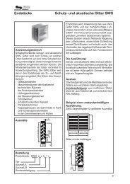Endstücke Schutz- und akustische Gitter SWG