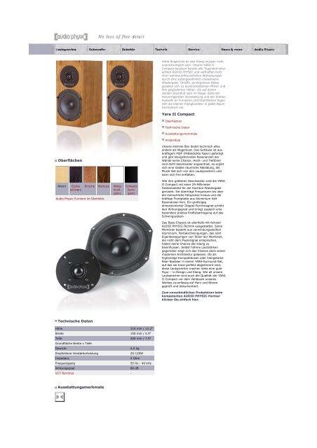 web Yara II family german/english - Audio Physic