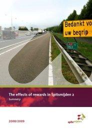 The effects of rewards in Spitsmijden 2; Summary