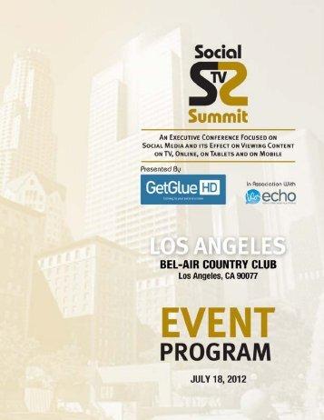 2012 SocialSummit-LA-Conference Brochure - Social TV Summit