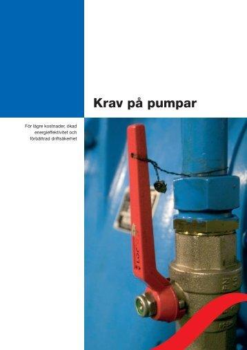Krav på pumpar